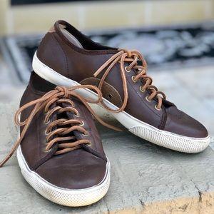 Men's Frye soft leather sneakers sz 10.5 shoes